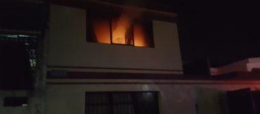 Departamento se incendia en la Nueva Valladolid