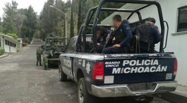 Refuerza Policía Michoacán blindaje con estados limítrofes