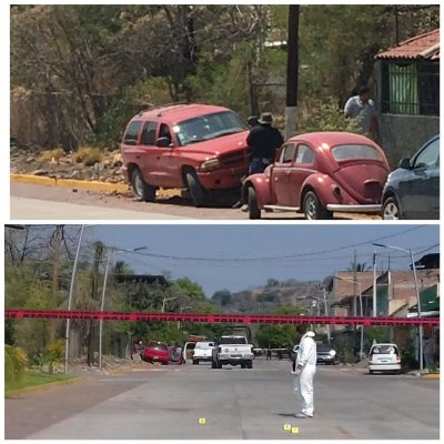 Ministeriales y civiles se enfrentan en Apatzingán; un muerto