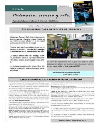 Abierta recepción de propuestas para Revista Milenaria