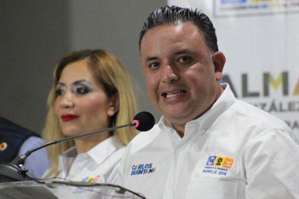 Llama Quintana a firmar acuerdo por la paz y seguridad en Morelia