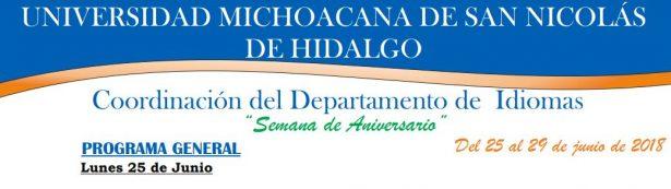 Semana de festejos en el Departamento de Idiomas por 40 aniversario