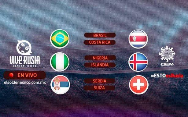 Rusia 2018: En vivo los partidos Brasil-Costa Rica, Nigeria- Islandia y Serbia-Suiza