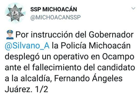 Condenan asesinato de candidato en Ocampo