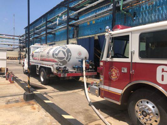 Incendio en la fábrica Alkemin moviliza cuerpos de auxilio