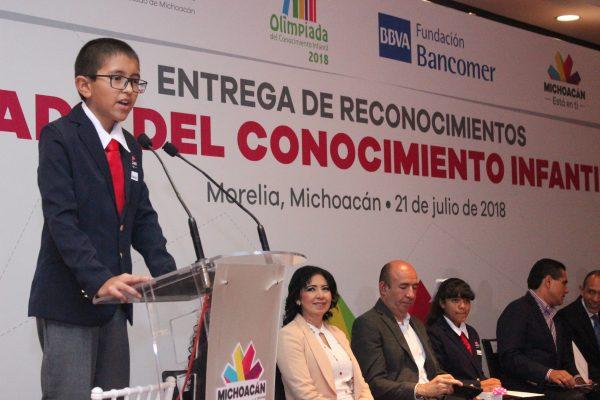 Reconocen a ganadores de Olimpiada del Conocimiento Infantil