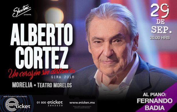 Llegará a Morelia el romanticismo de Alberto Cortez