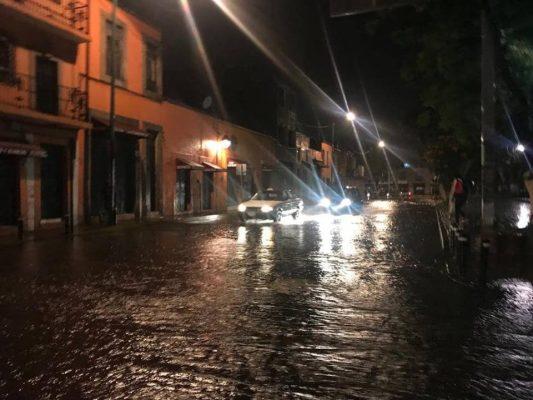 Bajo el agua, Centro Histórico de Morelia