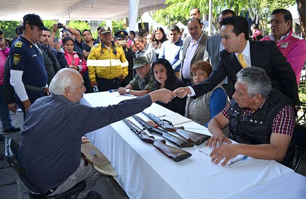 Desarme voluntario se traslada a Benito Juárez