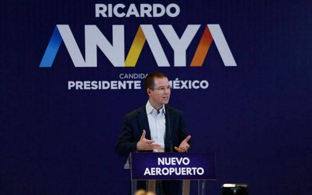 "Ricardo Anaya tacha a López Obrador de ""espanta inversiones"""