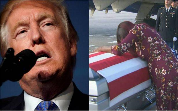 """Trump causa polémica por """"insensible"""" llamada a la viuda de un soldado caído en Níger"""