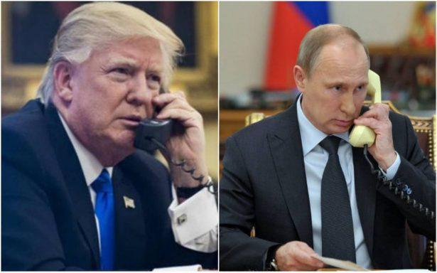 Trump y Putin conversan por teléfono sobre Oriente Medio y Norcorea