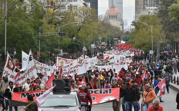 Manifestantes complicarán tránsito vial en diversos puntos de la capital