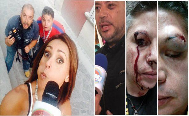 Al menos 20 sujetos golpean a reportera de Televisa