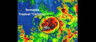 Continúa alerta verde en Oaxaca por tormenta tropical Carlotta