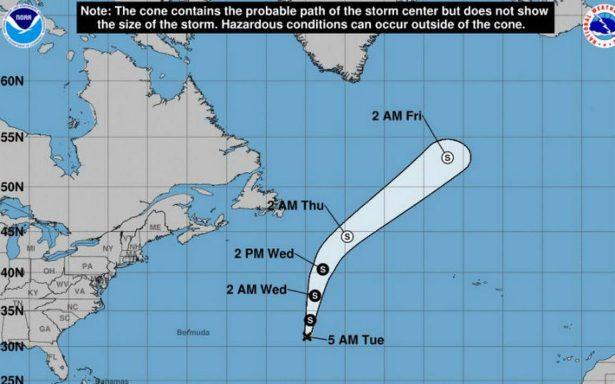 Se forma la tormenta tropical Rina en el Atlántico