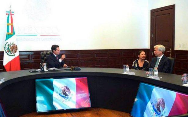 Peña Nieto refuerza lazos financieros tras reunión con el director general de J.P. Morgan