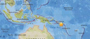 Sismo de 7.7 grados Richter pone en alerta a las Islas Salomón