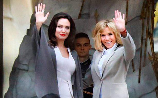 Erradicar violencia contra las mujeres, principal tema entre Angelina Jolie y Brigitte Macron