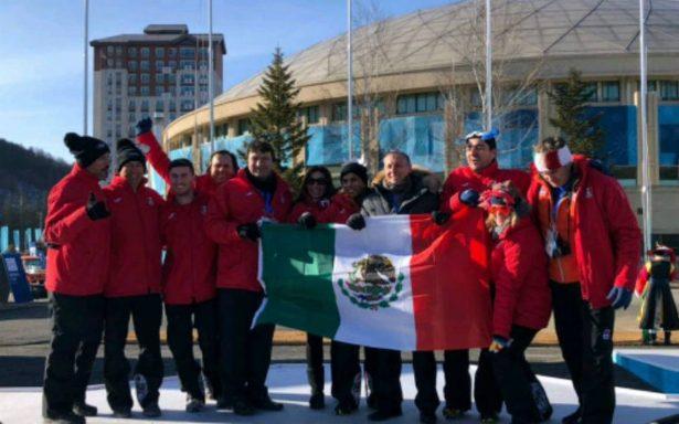 Bandera mexicana ya ondea en Villa Olímpica en PyeongChang 2018