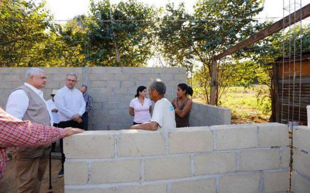 Fovissste supervisa reconstrucción de viviendas dañadas en Chiapas