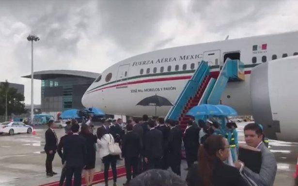 Peña Nieto arriba a Vietnam para el Foro Económico de Cooperación Asia-Pacífico