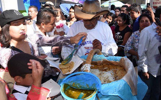 Tacos de canasta, de San Vicente para México