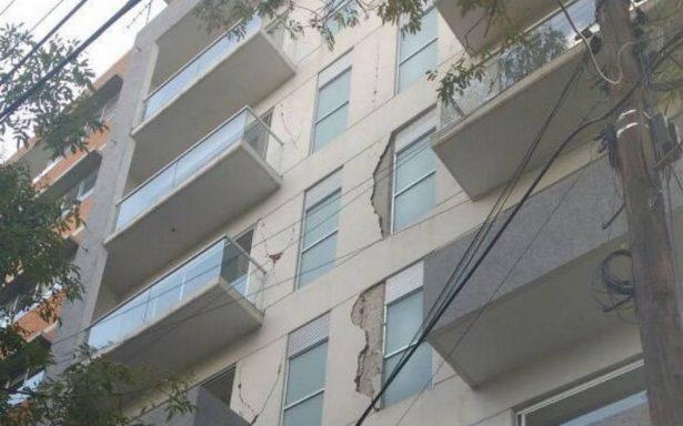Caen dos responsables de obra de edificio dañado en Portales por sismo