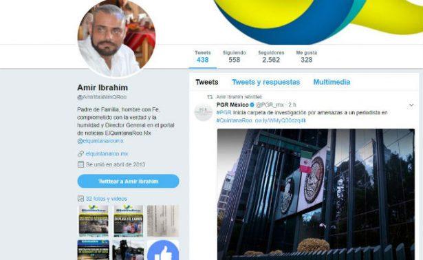 PGR investiga amenazas contra periodista de Quintana Roo