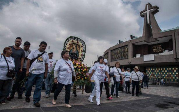 Peregrinos de Querétaro avanzan hacia la Basílica de Guadalupe