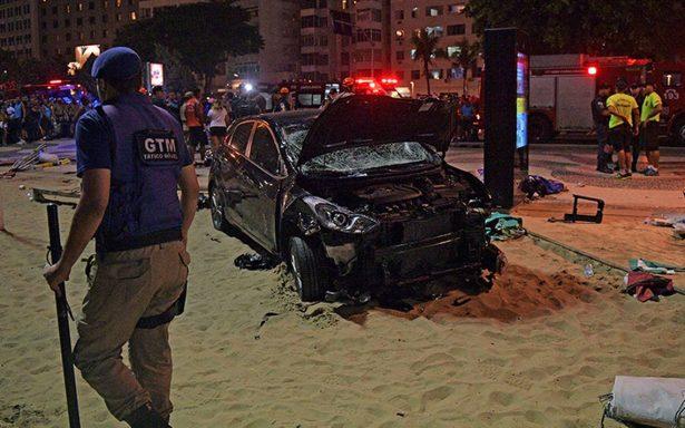 [Video] Al menos 15 heridos por atropello masivo en playa de Copacabana, Brasil