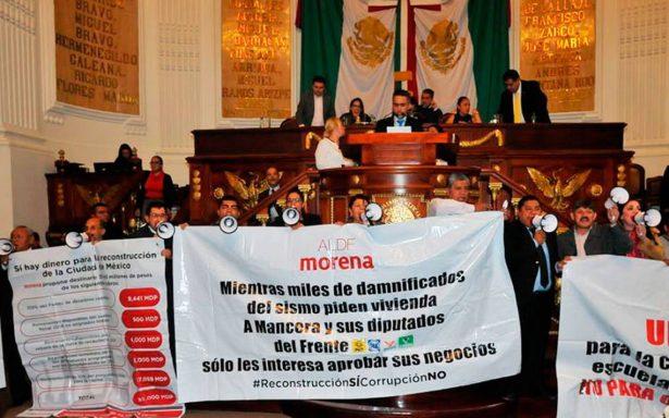 PRD madruga a Morena y toma Mesa Directiva de la Asamblea capitalina