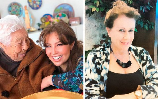 Thalía se reconcilia con Laura Zapata por amor a su abuela