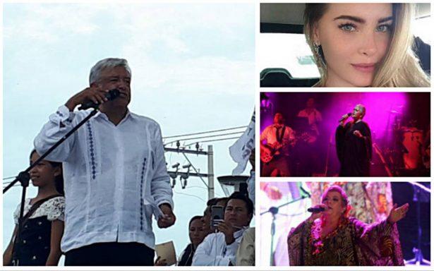 Belinda, Eugenia León y La Diosa de la Cumbia cantarán en cierre de campaña de AMLO