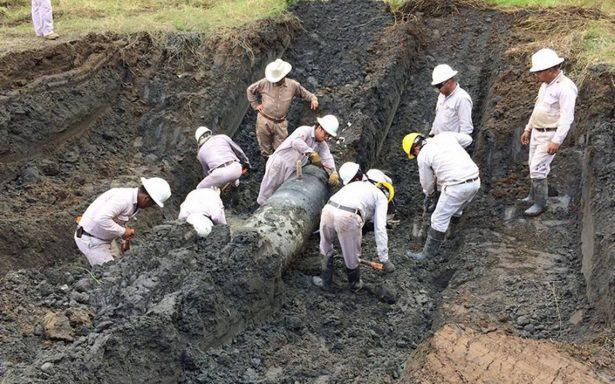 Controlan fuga de gas tras toma clandestina de ducto de Pemex en Cárdenas