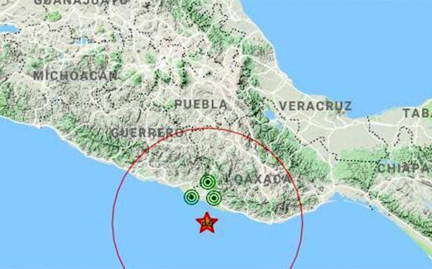 Se registra sismo de magnitud 4.5 en Pinotepa Nacional