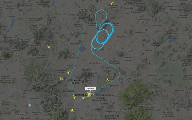 Vuelo 6402 de Iberia regresa al AICM por falla en tren de aterrizaje