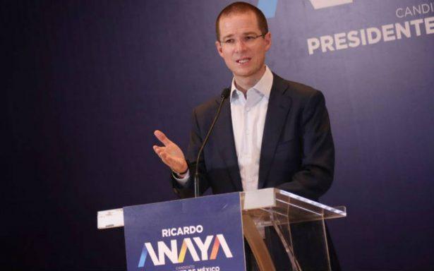 Anaya afirma que contienda electoral es entre él y AMLO