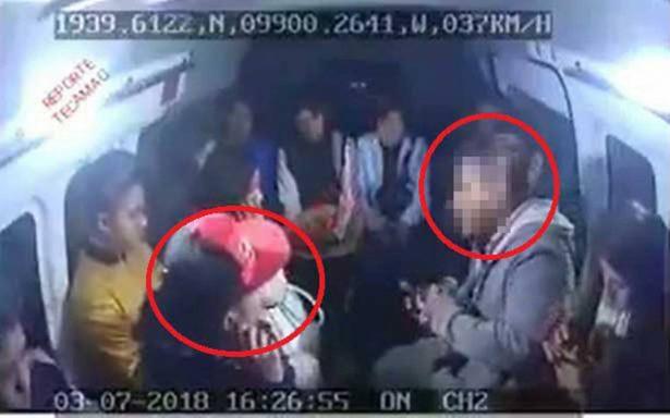 Captan en video el modus operandi de asalto a combis en Tecámac
