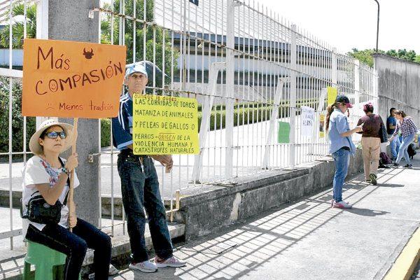 Se manifiestan afuera de Plaza de Toros; exigen alto a muerte de animales
