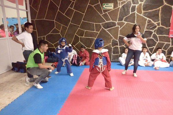 Encuentro de fogueo de taekwondoines