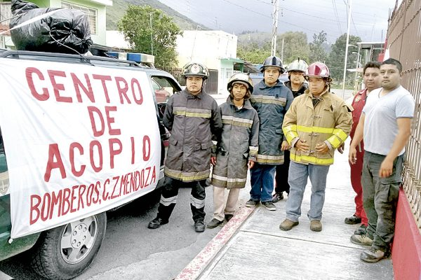 Bomberos de Mendoza instalan centro de acopio