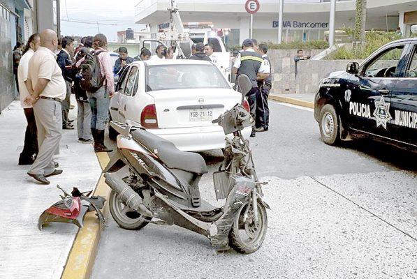 Incrementan accidentes  viales por precipitaciones