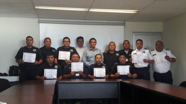 Concluyen 13 elementos policiales curso Taller de la Actuación del Policía en Juicios Orales Nivel 4
