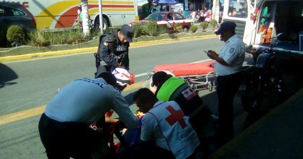 Atropella moto a mujer, en Nogales
