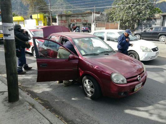 Carambola de tres vehículos en Río Blanco
