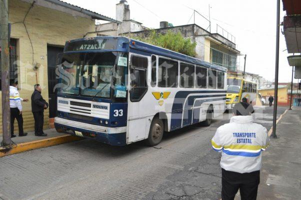 Detiene Transporte Público 10 camiones de pasaje en operativo