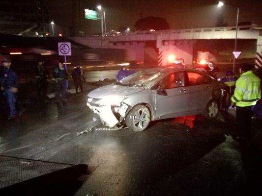 Se accidenta equipo de trabajo de Yunes Márquez, en la autopista a Orizaba