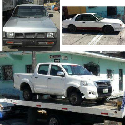 Asegura Ministerial tres vehículos con reporte de robo