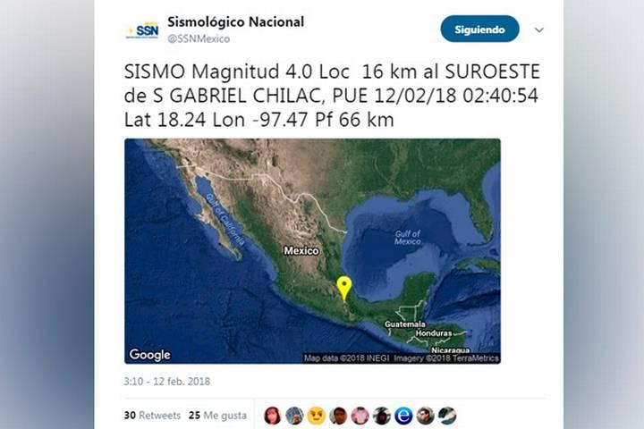 Sismo Chilac
